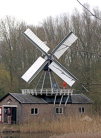 Wedderveer - Windmill Spinnenkop Wedderveer in 2010