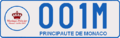 Monaco License Plate used for Mariage Princier (rear).png