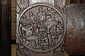 Monkey Jataka - Medallion - 2nd Century BCE - Red Sand Stone - Bharhut Stupa Railing Pillar - Madhya Pradesh - Indian Museum - Kolkata 2012-11-16 1855.JPG