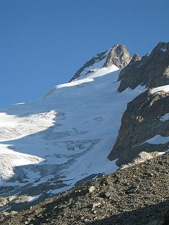 Mont Dolent - Image: Mont Dolent from Dolent Bivouac Hut