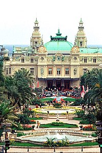 """Illustration 16: The Grimaldi's casino created the family's wealth but by the 1880s, Monaco had acquired a reputation as a decadent playground. The contemporary writer Sabine Baring-Gould described its habituées as: """"The moral cesspool of Europe."""""""