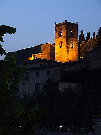 Montecatini Terme - The medieval burg of Montecatini.