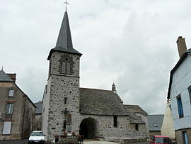The church of Saint-Laurent, in Montgreleix