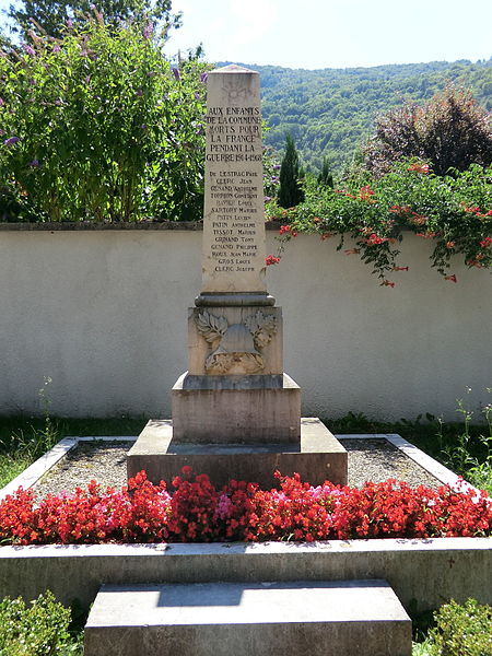 Monument aux morts de La Burbanche.