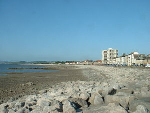 Morecambe - Image: Morecambe shoreline geograph.org.uk 28381