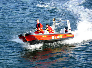 DLRG - Rescue boat of the DLRG