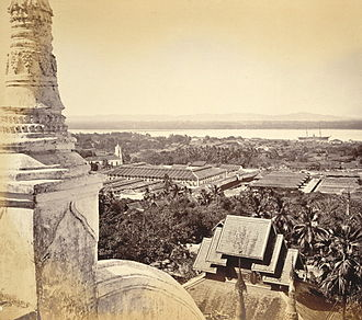Mandalay (poem) - Moulmein from the Great Pagoda, Samuel Bourne, 1870
