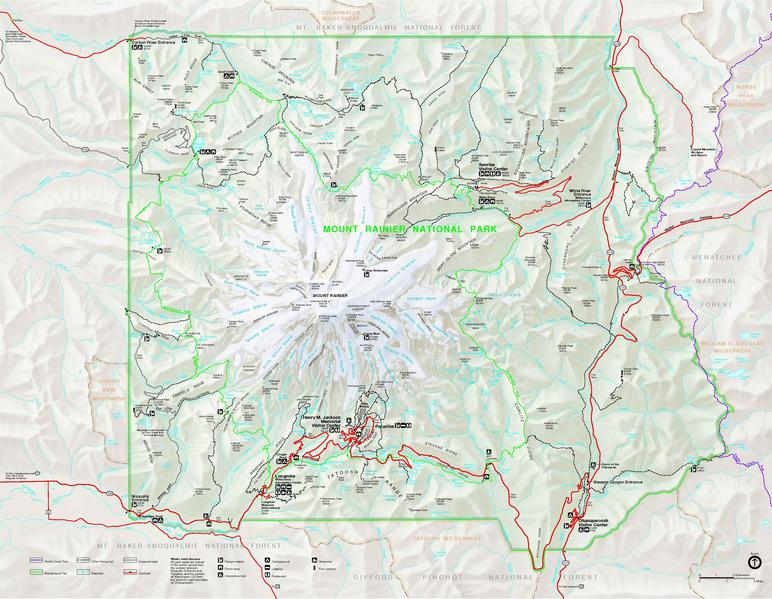 File Mount Rainier National Park map pdf Wikimedia mons