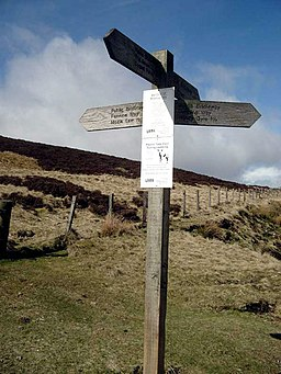 Mozie Law path junction - geograph.org.uk - 1131