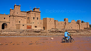 Moroccan architecture - Mud brick city of Ait Benhaddou, Morocco