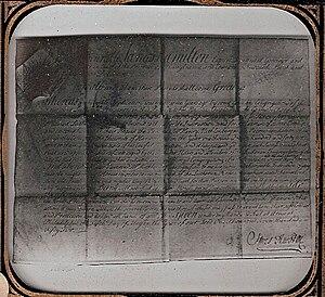 James Hamilton (Pennsylvania) - Passport for Henry Melchior Muhlenberg, issued by James Hamilton, 1752