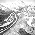 Muldrow Glacier, valley glacier with winding medial moraines, September 3, 1970 (GLACIERS 5194).jpg