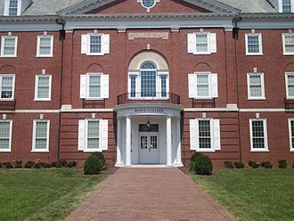 Boyce College - Main entrance to Mullins Hall at Boyce College