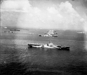 Murderers row at Ulithi Atoll - US Third fleet carriers at anchor, 8 December 1944 (80-G-294131).jpg
