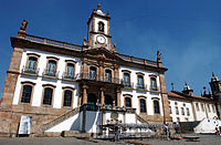 The Museum of the Inconfidência in Minas Gerais, an example of Portuguese colonial architecture.