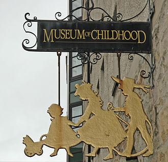 Museum of Childhood (Edinburgh) - Museum of Childhood sign, Edinburgh
