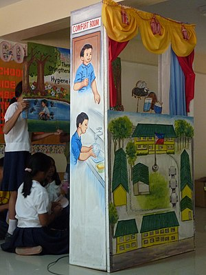 "World Water Day - Children presenting a puppet show for the ""My School Toilet"" contest in Cagayan de Oro, Philippines, 2010 World Water Day."
