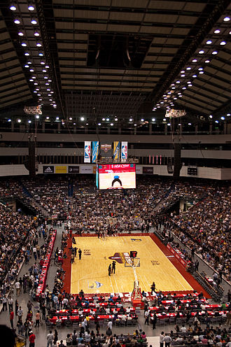 Taipei Arena - A 2009 NBA Exhibition game between the Indiana Pacers and Denver Nuggets at the Taipei Arena