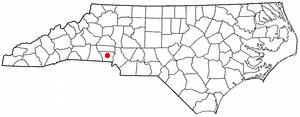 Dallas, North Carolina - Image: NC Map doton Dallas