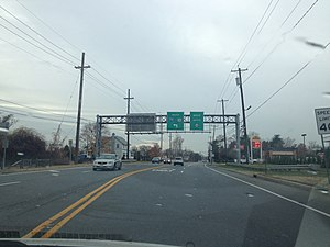 New Jersey Route 44 - Route 44 southbound past its beginning in West Deptford at an interchange with I-295/US 130