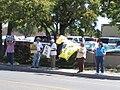 NM Unions Protest John McCain at Hotel Albuquerque (2672898055).jpg