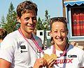 NM rulleskiskyting 2015 jaktstart medaljevinnere.jpg