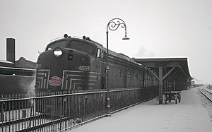 Union Station (Gary, Indiana) - The New York Central's eastbound New York Special at Gary Union Station, February 1963