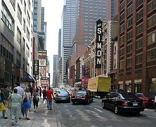 52nd Street (Manhattan) street traveling west to east across Midtown Manhattan, New York City