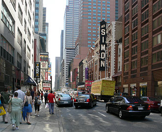 52nd Street (Manhattan) - The theatres of 52nd Street in 2007
