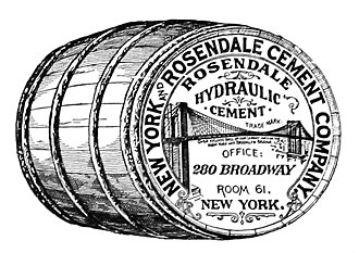 Rosendale cement - Seal of the New York and Rosendale Cement Company.