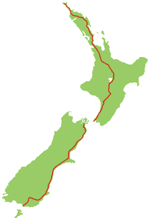 New Zealand State Highway 1 road in New Zealand