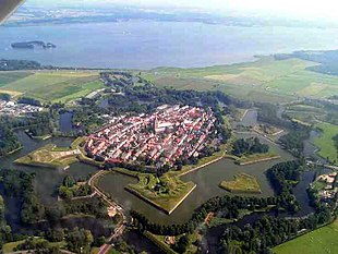 Aerial photo of the historic city of Naarden