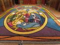Nacimiento hecho con alfombra de flores.JPG