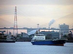 日本語: 名古屋港。 English: The Port of Nagoya, in Nag...