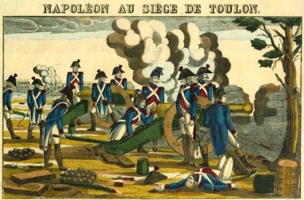Napoleon slår ner upproret i Toulon