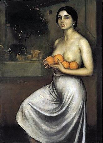 Julio Romero de Torres - Naranjas y limones (1927), by Julio Romero de Torres