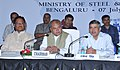 Narendra Singh Tomar chairing the Consultative Committee meeting of the Ministry of Steel and Mines, in Bengaluru, Karnataka. The Minister of State for Mines and Steel, Shri Vishnu Deo Sai and the Secretary.jpg