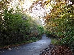 Narrow Road. Eatenden Lane a very narrow road ...