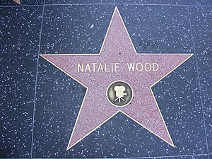 English: Natalie Wood's star on the Hollywood ...