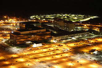 The Intercept - Photograph by Trevor Paglen of the National Security Agency headquarters in Fort Meade first published in The Intercept