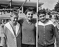 Nationale zwemkampioenschappen, W Weerdenburg , E Terpstra , T Beuman, Bestanddeelnr 916-7495.jpg