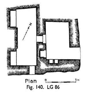 Nebemakhet - Floor plan of Nebemakhet's tomb, L86.