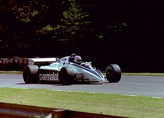 Brabham BT50 - Piquet in the BT50 at Brands Hatch, the scene of the 1982 British Grand Prix