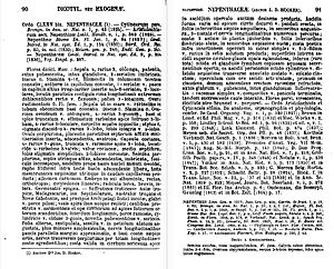 Nepenthaceae (1873 monograph) - The first two pages of Hooker's monograph