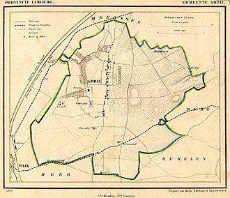 Amby - Image: Netherlands, Ambij (Amby, Maastricht), map of 1866