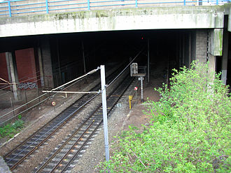 Stour Valley Line - The Stour Valley Line running into the New Street North Tunnel