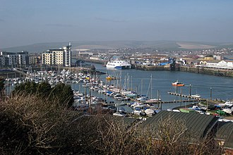 Port of Newhaven - View of Newhaven marina and ferry port