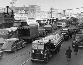 Newmarket, New Zealand - Newmarket's Broadway around 1950.