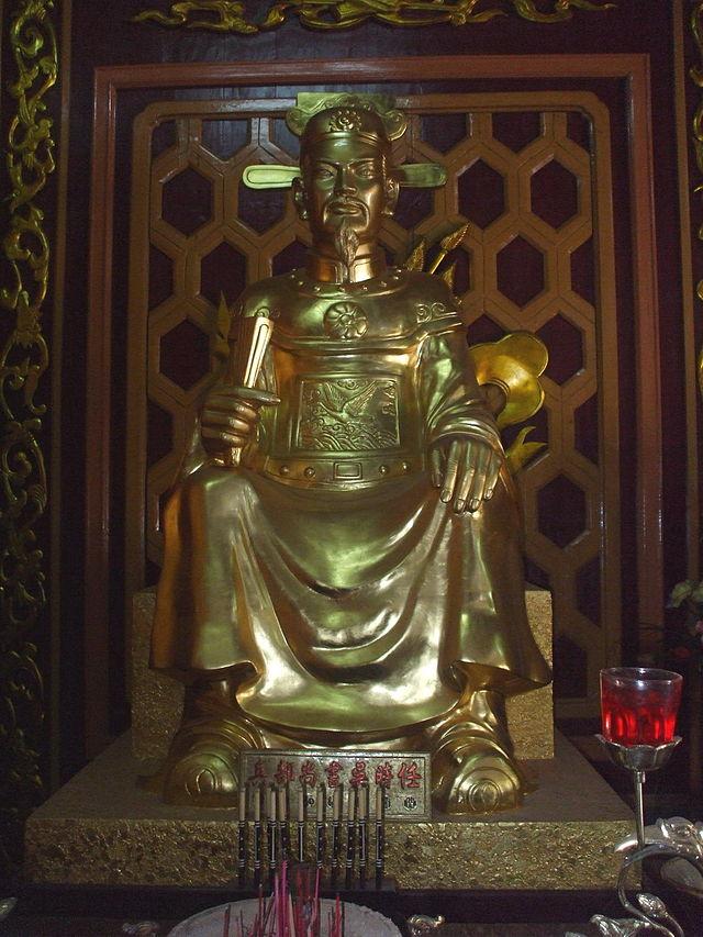 Tượng thờ Ngô Thì Nhậm trong Điện thờ Tây Sơn Tam Kiệt (Bảo tàng Quang Trung, Bình Định)