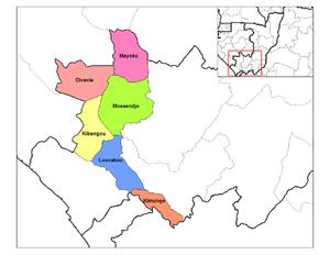Niari Department - Until 2012 Niari had only six districts